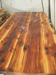 cedar conference table 11'X5', oil finish