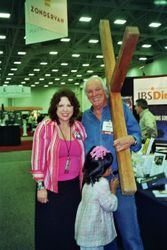 Kathie FitzPatrick with Arthur Blessitt