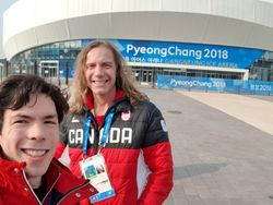 Ralph And Keegan At The Olympic Ice Arena
