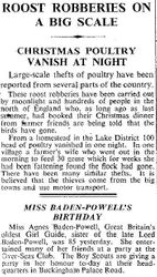 Times re Miss Baden-Powell's Birthday 1943