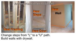 Build new new stairway & walls