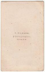 E. Kilburn, photographer of Littleton, NH - back