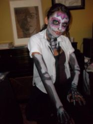 Sugar Skull w/ arms and chest painted