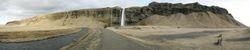 Panorama aan waterval
