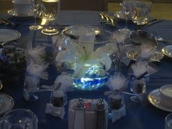 Simple Centerpiece w/ submersible light
