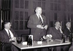 Enjoying a laugh at the 1965 Annual Dinner