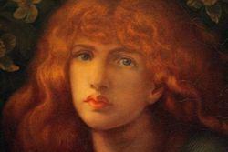 Rossetti, Mary Magdalen, detail, WilmingtonA web