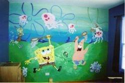 Spongebob and Patrick Mural