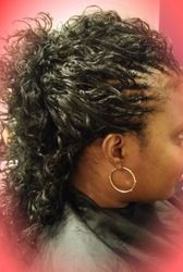 Regular Single layer Tree Braids w/Human Hair mastermix