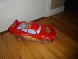 "Disney/Pixar Cars Lightning McQueen 8"" Sounds Car - $12"