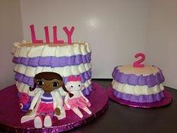 Doc McStuffins Cake with mini smash cake