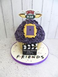 Friends themed Giant Cupcake