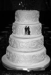Mendhi Style Wedding Cake