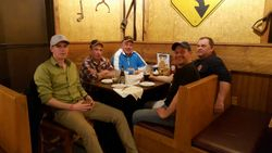 Coaches at dinner
