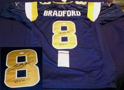 "SAM BRADFORD SIGNED STITCHED JERSEY AUTO JSA WITH ""ROY 10"" INSCRIPTION"