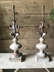 #29/280 FRENCH FINIALS PAIR