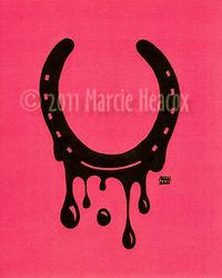 Dripping Horseshoe Drawing