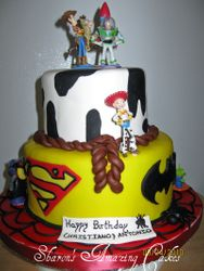 CAKE 33A2 -Toy Story Meets Marvel Comics