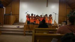 Asante Afican Children's choir-colorful costumes