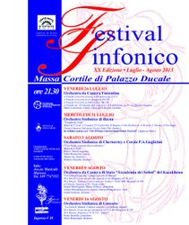 Poster for the July 31. 2013 DMIMF concert in Massa, Italy