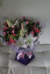 Summer hand tied, gift wrapped