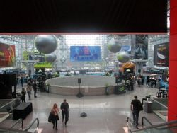 View Looking Down into SYFY WIRE Fan Lounge During NYCC 2019