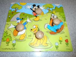 Melissa & Doug Disney Mickey Mouse & Friends Wooden Knob Puzzle - $7