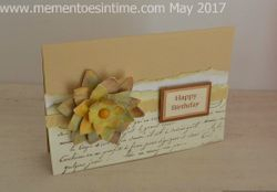 Distress Flower Card With Layered Flower Template Number 2