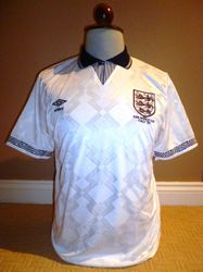 England 1990 world cup match worn shirt for sale