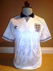 England 1990 world cup match worn shirt for sale