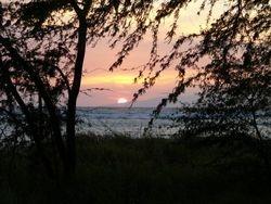 Sun setting over Lanai