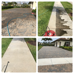 Driveway and Sidewalk Pressure Cleaning