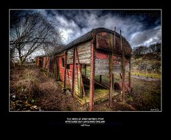Old Sheds at Jenny Brown's Point-Morecambe Bay-Lancashire-England