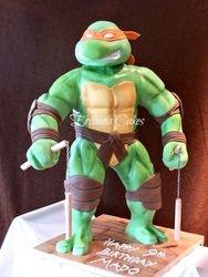 Gravity Defying - 3d Ninja Turtle Cake