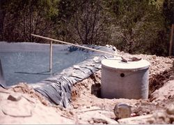 Lined septic system