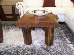 Small coffee-table, cedar,split legs