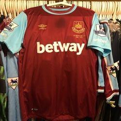 Ginger Pele, James Collins worn 2015/16 home shirt.