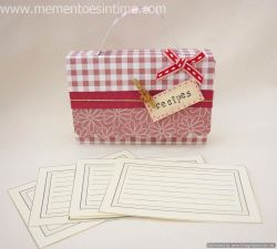 Accordion File Recipe Box