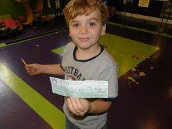 Andres' First Check