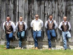Jeff Stone and groomsmen