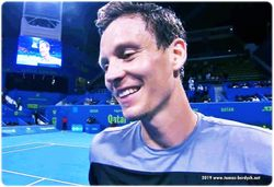 Tomas Berdych's interview on court