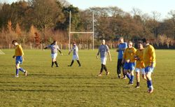 CROSSERS AFTER SCORING FOR SAINTEES