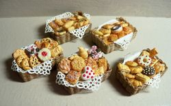 Baskets with pastries