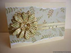 Tattered Flower Card