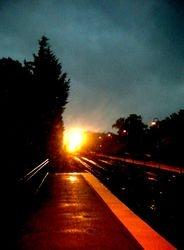 Train and rain arriving