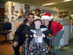 Mike with Nurse Angie and her fiance