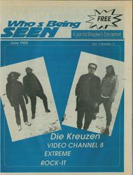 "Gone Away era article/interview - ""Seen"" 1989-06 Front Cover"