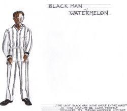 Black Man with Watermelon