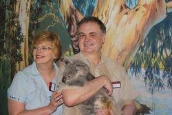Lynda and Randy with Koala at Cairns