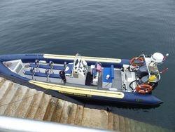 Das Boot mit 2 x 300 PS und 12 Plätzen